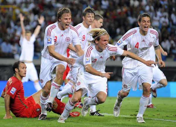 Dansk udligning til 2-2 mod Portugal, sep 2008