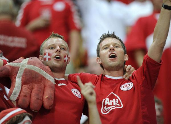 Danske tilskuere mod Portugal sep 2008
