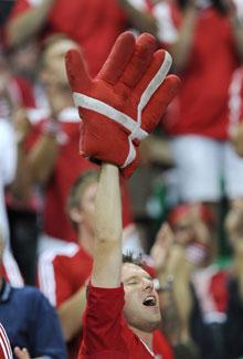 Dansk tilskuer mod Portugal sep 2008