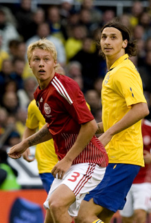 Simon Kjær, Zlatan Ibrahimovic, juni 2009