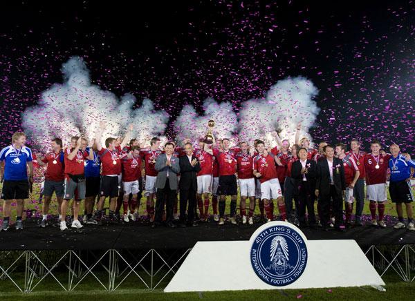Ligalandsholdet vandt Kings Cup i Thailand 2010