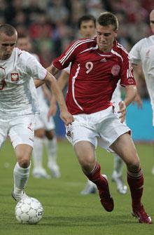 Nicklas Bendtner mod Polen august 2006