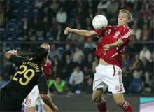 Nicklas Bendtner mod Portugal august 2006