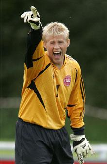 Kasper Schmeichel mod Norge U/20-landsholdet 2006