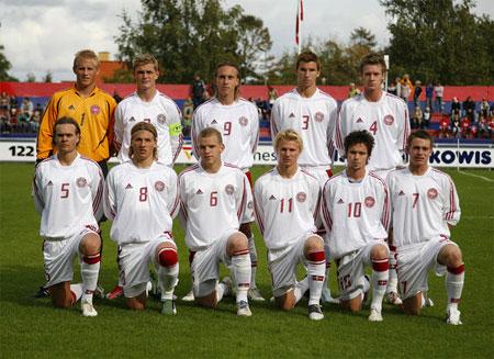 Startopstilling U/20-landsholdet mod Norge 06
