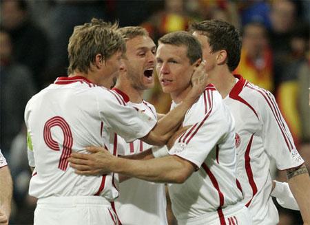 Michael Gravgaard 2-1 reducering mod Spanien 2007